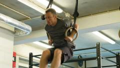 Ring Muscle Ups Stock Footage