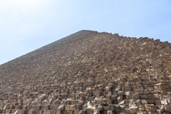 Heat haze over great pyramid of giza cairo Stock Photos