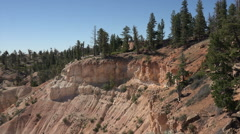 Bryce Canyon Utah overlook beautiful red sandstone cliffs HD 130 Stock Footage