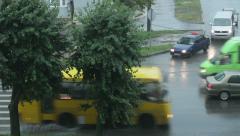 Rain In City 4 - stock footage