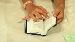 The Children Read The Bible 3 Stock Footage