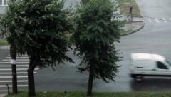 Rain In City 3 - stock footage
