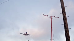 Airplane Flying Overhead Stock Footage
