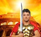 Stock Photo of roman legionary soldier in front of coliseum