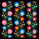 Stock Illustration of Seamless long Polish folk art pattern - wzory lowickie, wycinanka