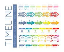 timeline infographic - stock illustration