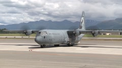 C-130 Hercules from Australia Participates in Red Flag 14-2 Stock Footage