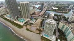 Aerial Hallandale Beach 5 Stock Footage