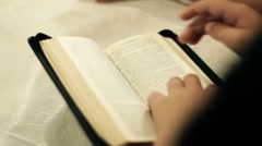 The Children Read The Bible 10 Stock Footage
