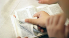 The Children Read The Bible 5 Stock Footage