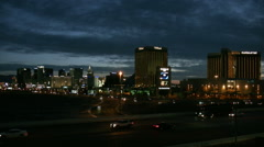 Dawn breaking over the Las Vegas strip Time lapse HD Stock Footage