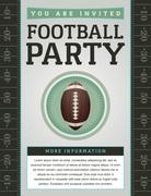 American football party flyer Stock Illustration