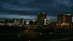 Dawn breaking over the Las Vegas strip Timelapse HD Stock Footage