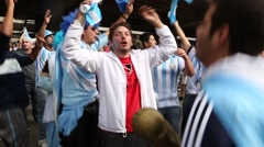 Argentina fans sing and dance in 2014 World Cup Stock Footage