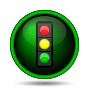 traffic light icon - stock illustration