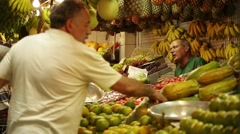 Fruit Stand Stock Footage