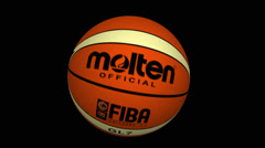 Basket Ball FIBA World Cup (LOGO MOLTEN) 06 Stock Footage