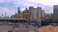 Stock Video Footage of 4K Melbourne City Victoria Australia