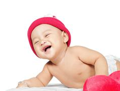 Stock Photo of baby laugh