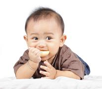 Stock Photo of baby eating