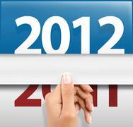 Stock Illustration of happy new year 2012