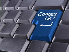 contact us or support concept - stock illustration