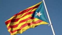 Catalan secessionist flag Stock Footage