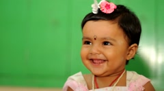 Cute baby smiling Stock Footage