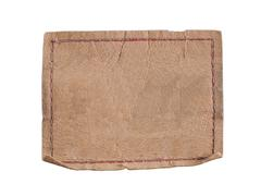 leather blank label - stock photo