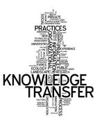 Stock Illustration of word cloud knowledge transfer