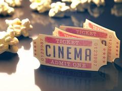cinema vintage - stock illustration