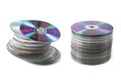 Stock Photo of pile of cd and dvd discs
