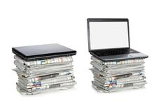 Stack of newspaper Stock Photos