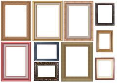 Stock Photo of collection of picture frame