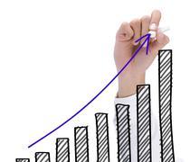 Stock Illustration of growth chart