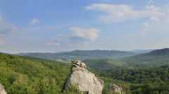 """Timelapse of carpatian mountains and sky, famous place """"Dovbush rocks"""" Stock Footage"""