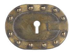 golden key hole - stock photo
