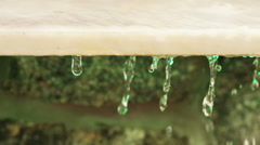 Granite slab with water Stock Footage