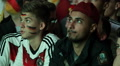 Angry Blonde Boys Painted Faces Football Closeup Portrait German People Enjoy Footage