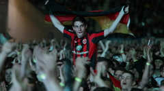 Crowd Happiness Applause People Applauding Football Supporters German Match Fans Stock Footage