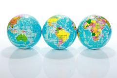Stock Photo of world globe maps