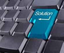Stock Illustration of solution button