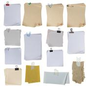 note paper over white background - stock photo