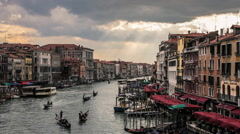 Traffic on the Grand Canal in Venice, Italy Stock Footage