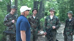 Trainees Listen to Ex Navy Seal Instructor Stock Footage
