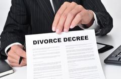Lawyer showing a divorce decree Kuvituskuvat