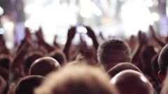 CROWD APPLAUSE STAGE Stock Footage