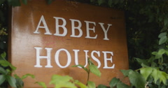 Iconic Abbey House (The Beatles) 4K Stock Footage
