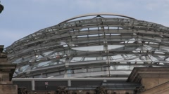 Reichstag Dome at cloudy day, Berlin Stock Footage