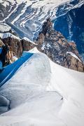 View of mont blanc mountain range from aiguille du midi in chamonix - landsca Stock Photos